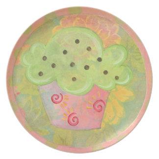 Placa de la magdalena plato de comida