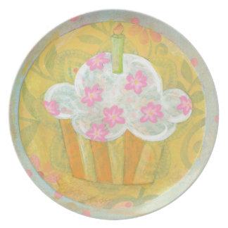 Placa de la magdalena plato para fiesta