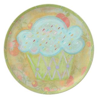 Placa de la magdalena platos de comidas