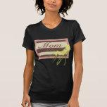 Placa de la mamá camiseta