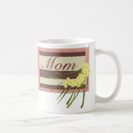 Placa de la mamá tazas de café