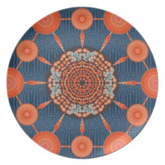 Placa de la mandala 1 del erizo plato