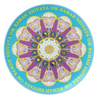 Placa de la mandala de Babaji Platos Para Fiestas