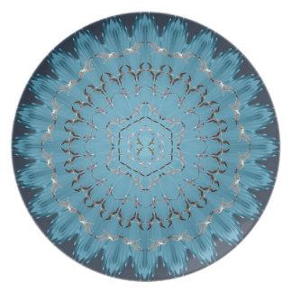 Placa de la mandala de la gaviota del vuelo plato de cena