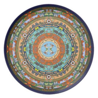 Placa de la mandala del estado de Arizona Platos De Comidas