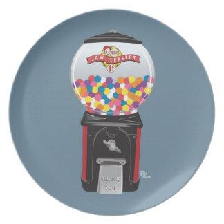 Placa de la máquina de Gumball Platos