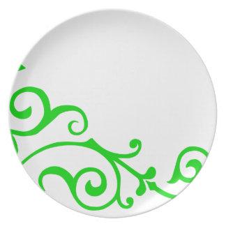 Placa de la marfil del cirro (cal) plato para fiesta