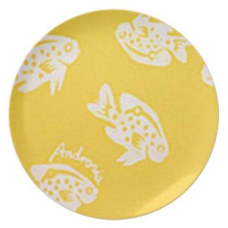 Placa de la melamina de Androsia (amarillo) Platos Para Fiestas