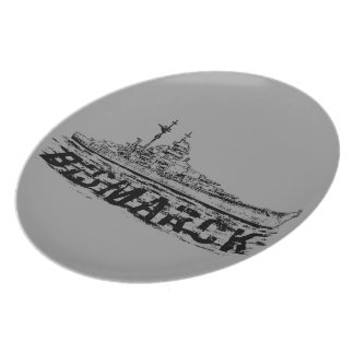 Placa de la melamina de Bismarck Platos Para Fiestas