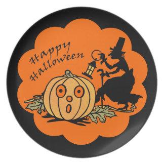Placa de la melamina de Halloween del vintage Platos De Comidas