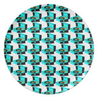Placa de la melamina de Houndstooth del tocadiscos Platos Para Fiestas