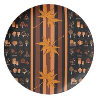 Placa de la melamina de la acción de gracias platos para fiestas