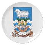 Placa de la melamina de la bandera del mar de la n platos para fiestas