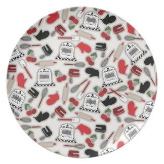 Placa de la melamina de la cocina del encanto del  plato de cena