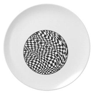 Placa de la melamina de la esfera plato para fiesta