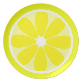Placa de la melamina de la rebanada del limón plato