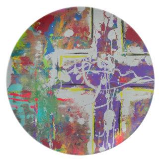 Placa de la melamina de la resurrección plato para fiesta