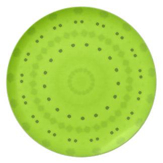 Placa de la melamina de la verde lima platos para fiestas