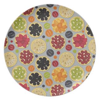 Placa de la melamina de Tutti Frutti Plato