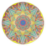 Placa de la melamina del arte abstracto del efecto plato para fiesta