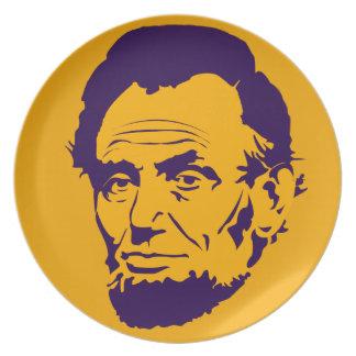 Placa de la melamina del arte pop de presidente plato de cena