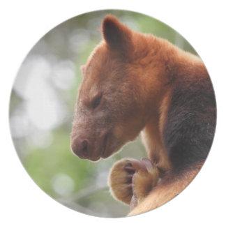 Placa de la melamina del canguro de árbol platos