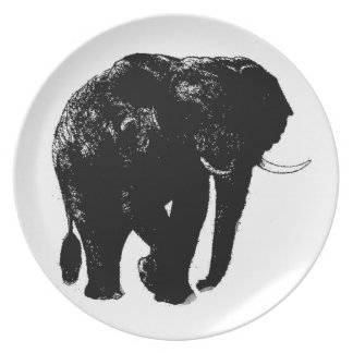 Placa de la melamina del elefante plato de comida