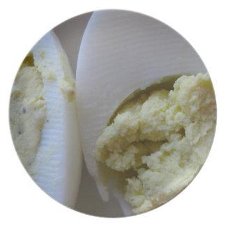 Placa de la melamina del huevo de Deviled