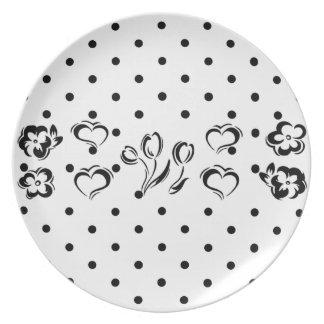 Placa de la melamina del lunar platos