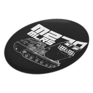 Placa de la melamina del MLRS M270 Plato