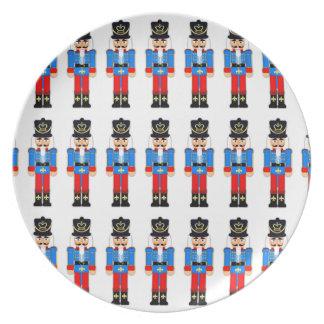 Placa de la melamina del navidad del soldado del plato