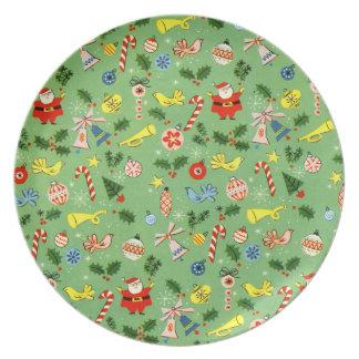 Placa de la melamina del papel de embalaje del nav platos para fiestas