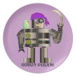 Placa de la melamina del pirata del robot platos
