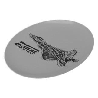 Placa de la melamina del RAPAZ F-22 Plato De Cena