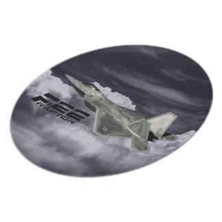 Placa de la melamina del RAPAZ F-22 Platos De Comidas