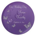 Placa de la melamina del recuerdo de la bodas de p plato para fiesta