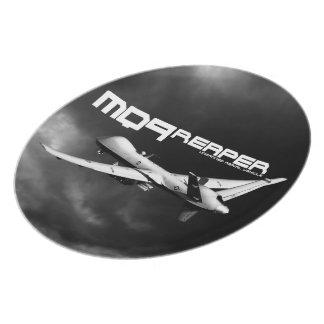Placa de la melamina del segador MQ-9 Plato De Comida