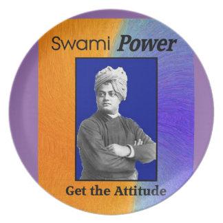 Placa de la melamina del Swami-Poder Plato De Comida