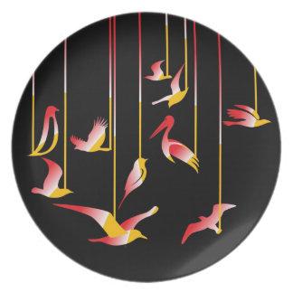 Placa de la melamina platos para fiestas