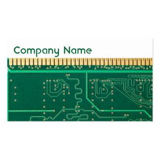 Placa de la memoria de computadora tarjetas de visita