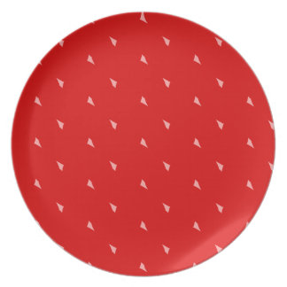 Placa de la mermelada de fresa plato