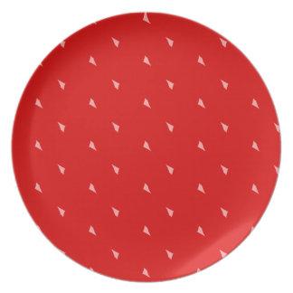 Placa de la mermelada de fresa plato para fiesta