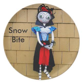 Placa de la muñeca del arte del zombi del vampiro platos para fiestas