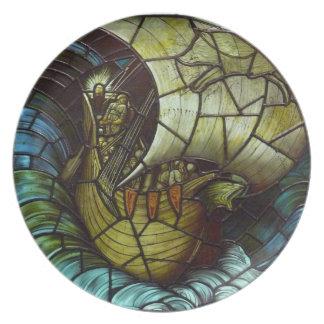Placa de la nave de Viking Plato De Comida