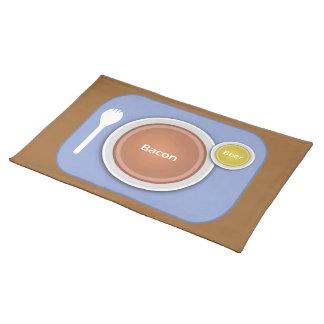 Placa de la nutrición mantel individual