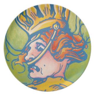 Placa de la onza - reina Ana Platos