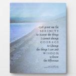 Placa de la opinión del lago prayer de la serenida
