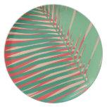 Placa de la palma del átomo platos para fiestas