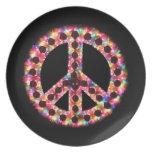 placa de la paz 5-Color Plato Para Fiesta