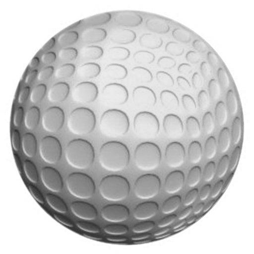 Placa de la pelota de golf plato